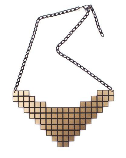 Pixel Necklace | Lasercut jewelry | Rename | Made in Belgrade