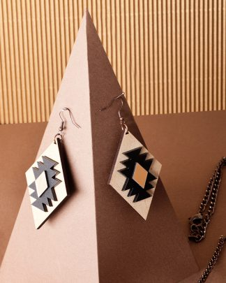 Ethnotize earrings | Lasercut jewellery | Rename jewelry | Made in Belgrade