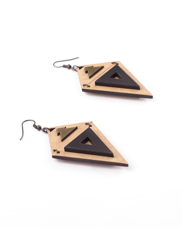 Peru Earrings | Lasercut jewellery | Rename jewelry | Made in Belgrade