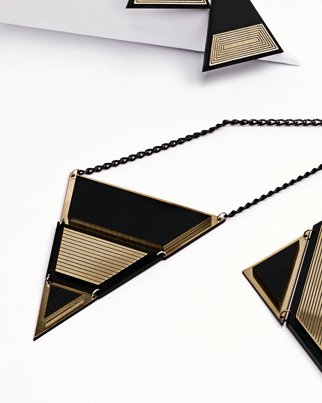 London L necklace | Lasercut jewelry | Rename | Made in Belgrade