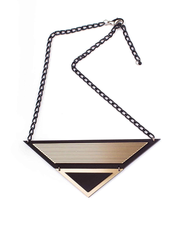 London S necklace   Lasercut jewelry   Rename   Made in Belgrade