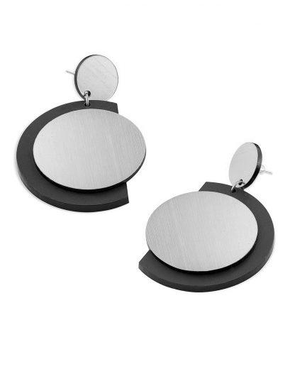 Fullmoon earrings | Lasercut jewelry | Rename | Made in Belgrade
