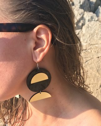 Moon earrings | Lasercut jewelry | Rename | Made in Belgrade
