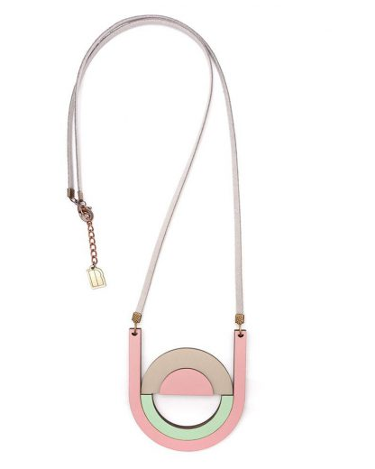 Pastel moon neckalce | Lasercut jewellery | Rename jewelry | Made in Belgrade