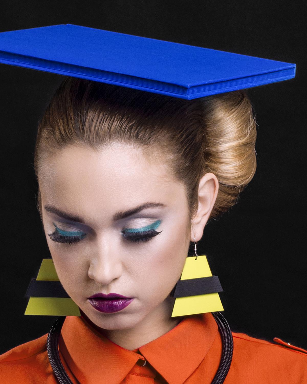 Popout Earrings Yellow | Lasercut jewelry | Rename | Made in Belgrade