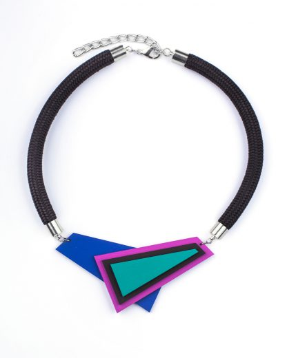 Popout necklace AsymmetricBlue | Lasercut jewelry | Rename jewelry | Made in Belgrade