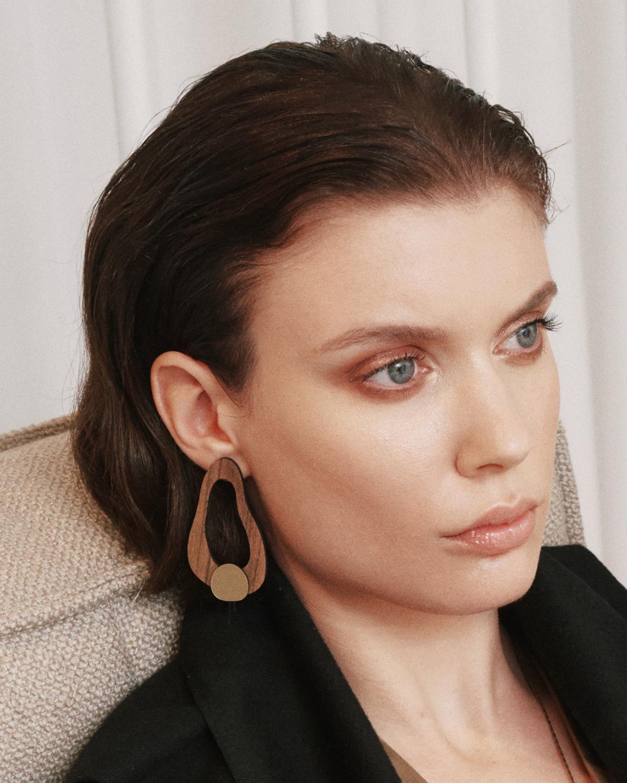 Small organic earrings