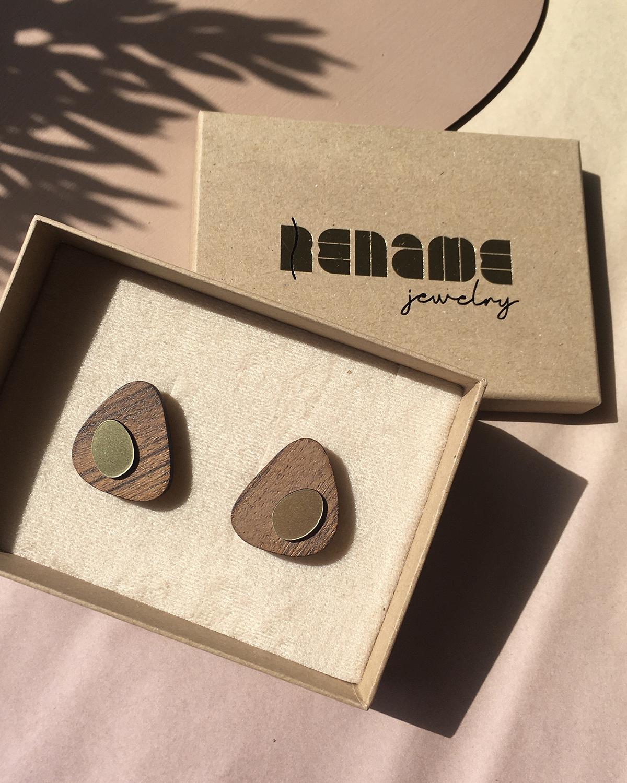 Flow earrings   Lasercut jewelry   Rename   Made in Belgrade