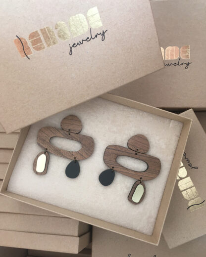 Flow earrings| Lasercut jewelry | Rename | Made in Belgrade