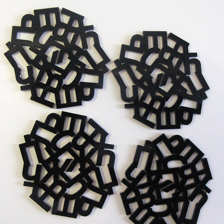 Acrylic coasters | Lasercut jewelry | Rename | Made in Belgrade