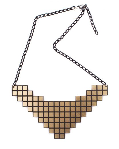 Pixel Necklace   Lasercut jewelry   Rename   Made in Belgrade