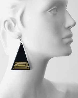 Golden rule earrings | Lasercut jewelry | Rename | Made in Belgrade