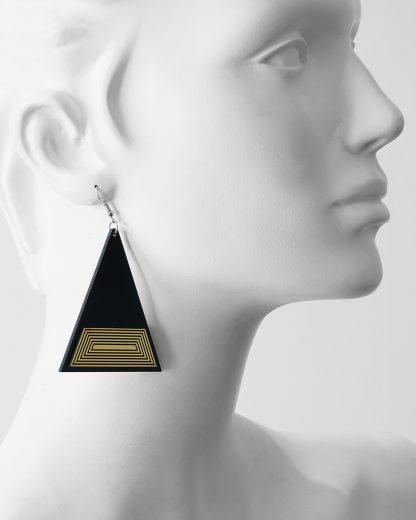 Golden rule earrings | Lasercut jewelry | Rename | Made in Belgrade