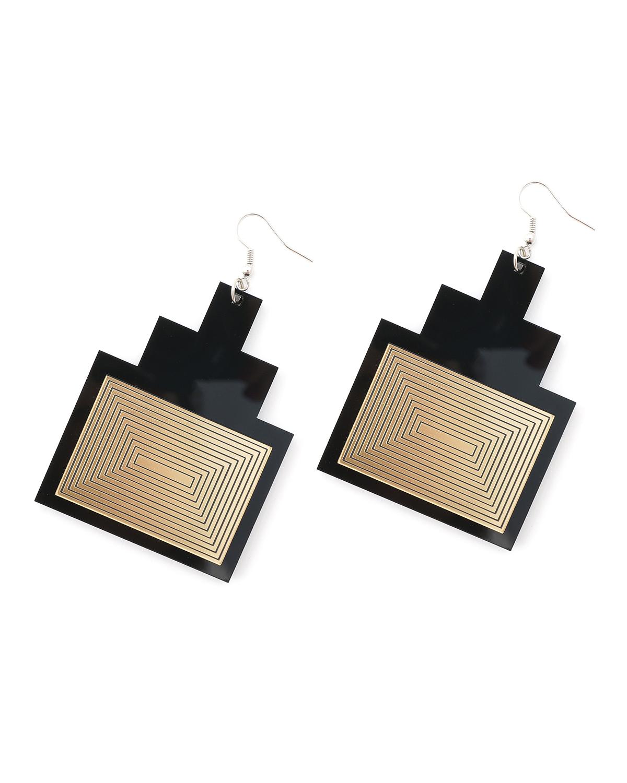 Newyork earrings | Lasercut jewelry | Rename | Made in Belgrade