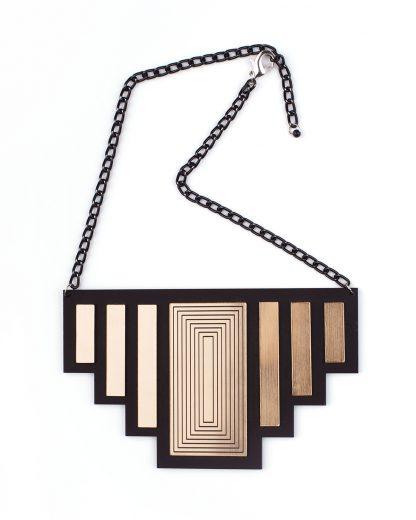 Newyork necklace   Lasercut jewelry  Rename   Made in Belgrade