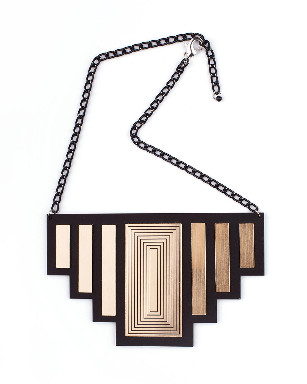Newyork necklace | Lasercut jewelry |Rename | Made in Belgrade