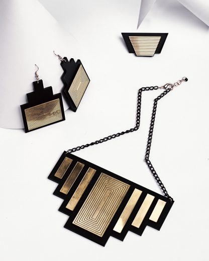Golden rule necklace   Lasercut jewellery   Rename jewelry   Made in Belgrade