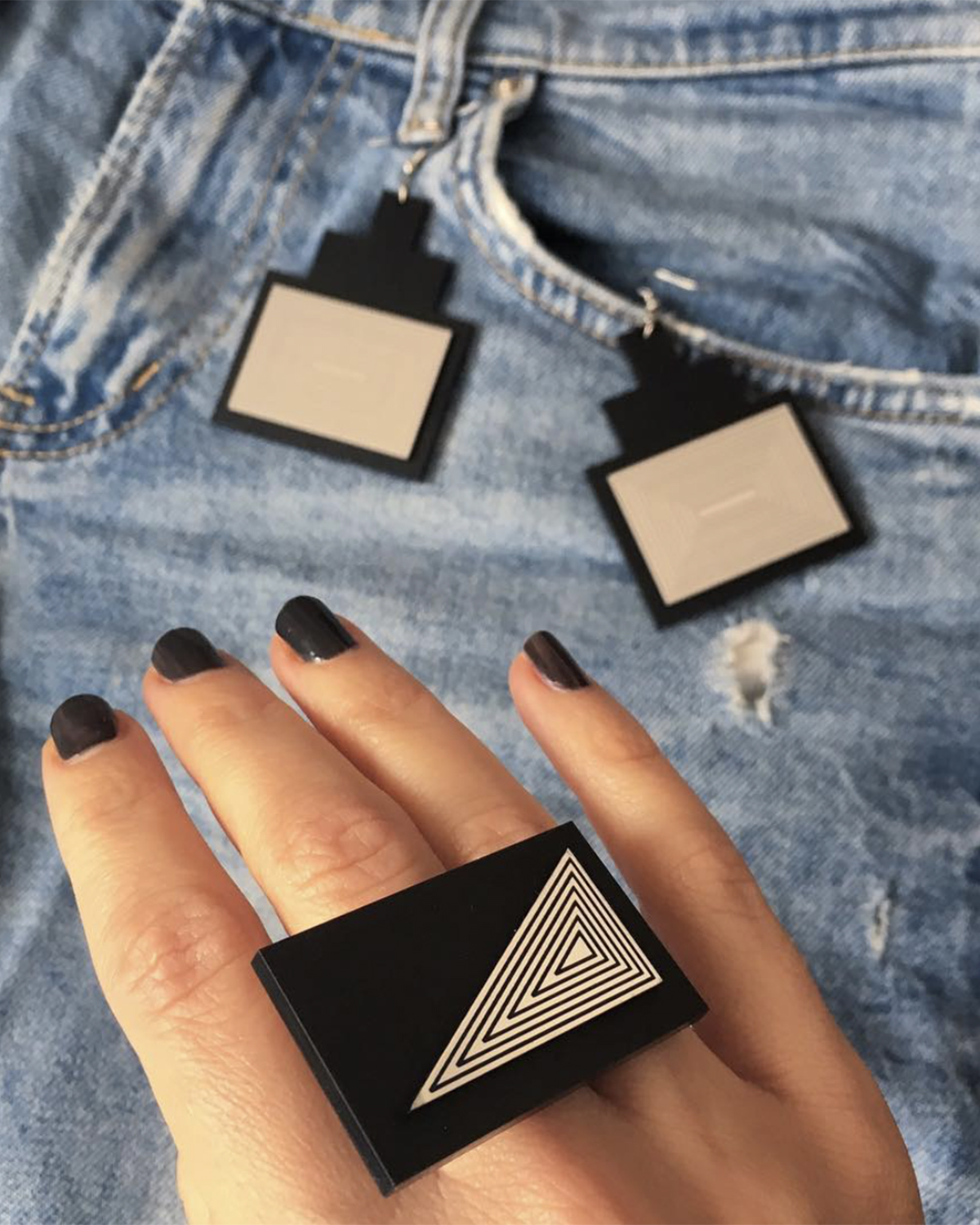 Berlin ring | Lasercut jewelry | Rename | Made in Belgrade