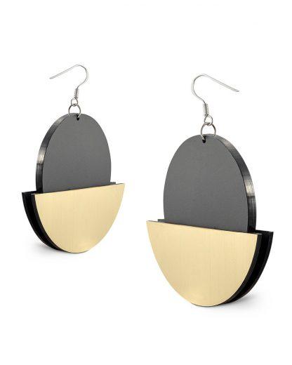 Halfmoon earrings | Lasercut jewelry | Rename | Made in Belgrade