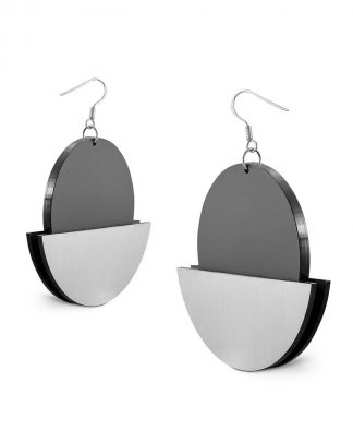 Halfmoon earrings | Lasercut jewelry | Rename | Made in Belgrade