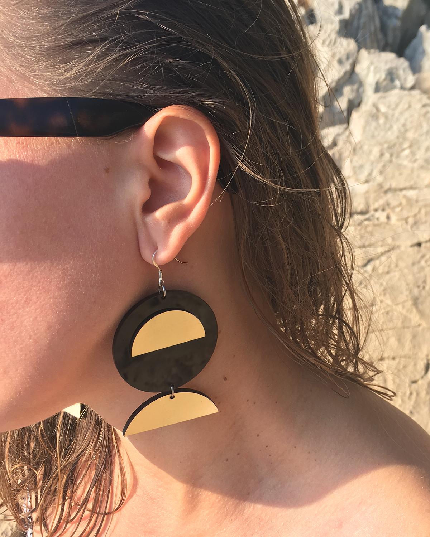 Moon earrings | Lasercut jewelry | Rename | Made in Belgrade