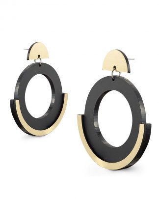 Newmoon earrings | Lasercut jewelry | Rename | Made in Belgrade