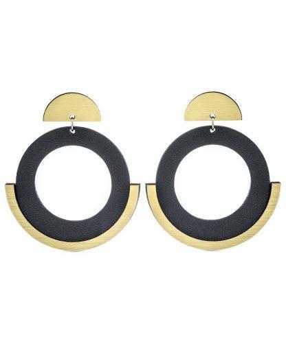 Moon earrings | Lasercut jewellery | Rename jewelry | Made in Belgrade