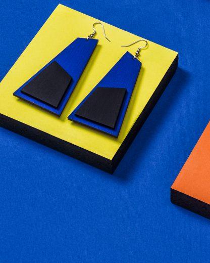 Popout Earrings Blue | Lasercut jewelry | Rename | Made in Belgrade