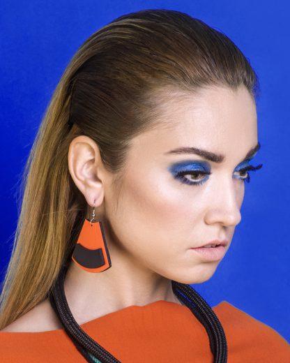 Popout Earrings Orange | Lasercut jewelry | Rename | Made in Belgrade