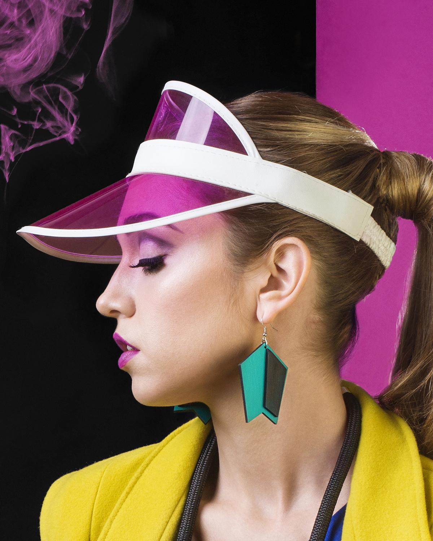 Popout Earrings Turquoise | Lasercut jewelry | Rename | Made in Belgrade