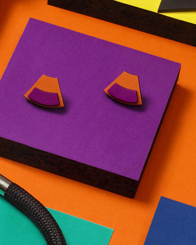 Popout Mini100 Earrings | Lasercut jewelry | Rename | Made in Belgrade