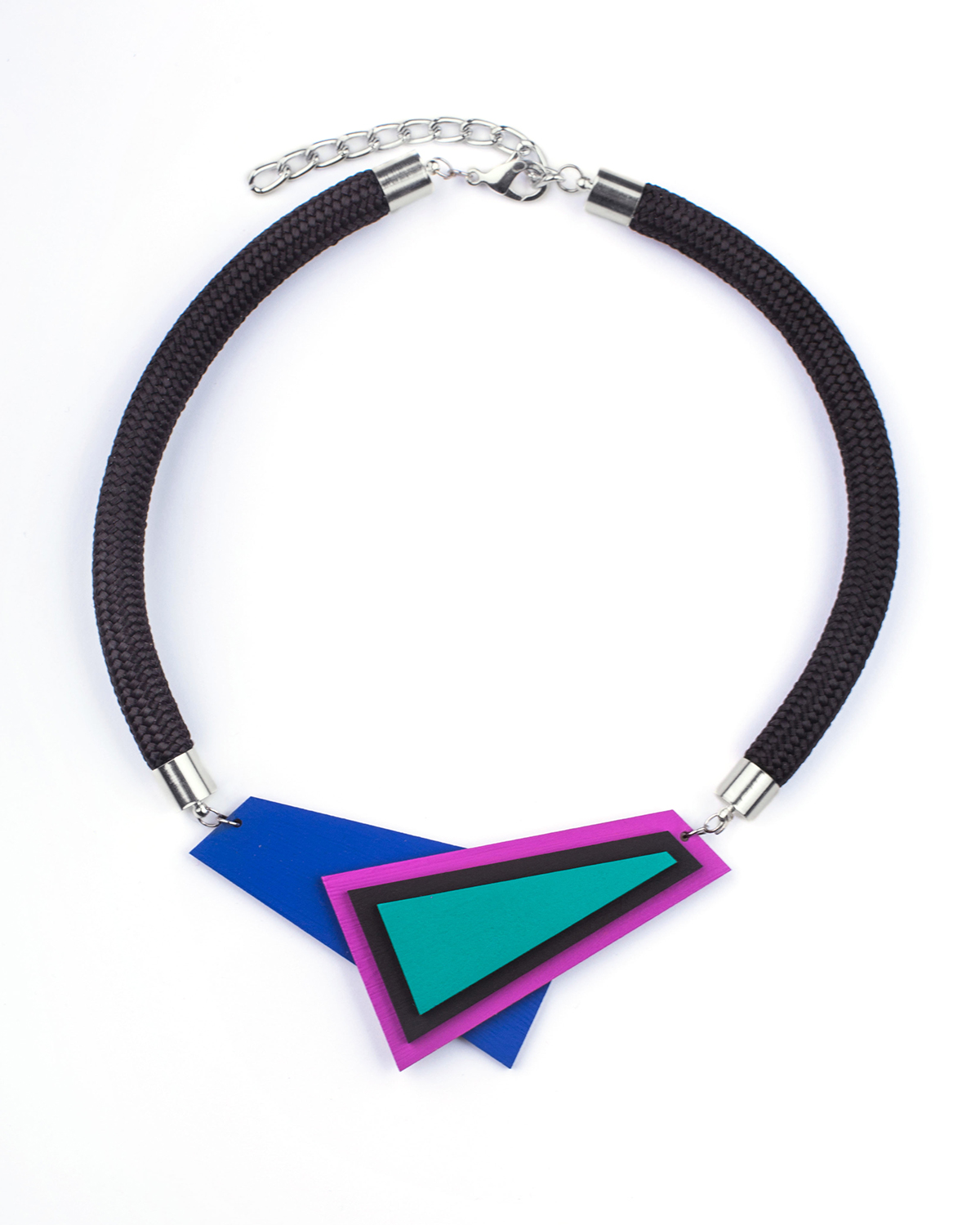 Popout necklace AsymmetricBlue | Lasercut jewelry | Rename jewelry | Made in Belgrade