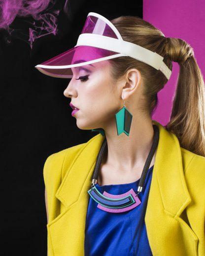 Asymmetric Purple Necklace | Lasercut jewelry | Rename | Made in Belgrade