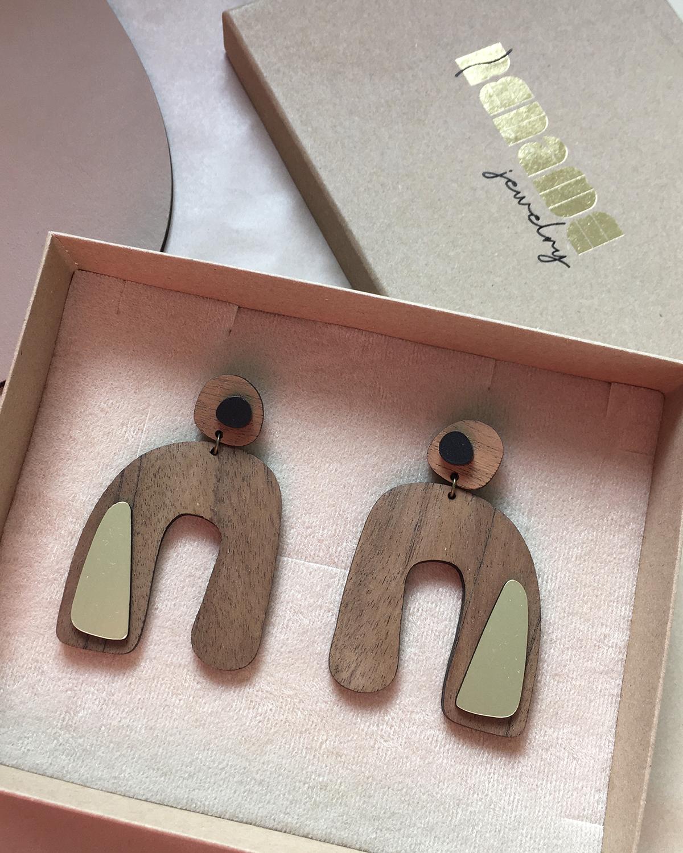 Flow earrings| Lasercut jewelry | Rename | Made in Belgrade