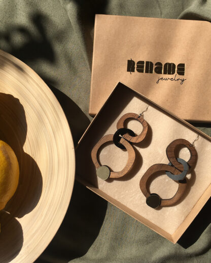 Rename jewelry | Lasercut jewellery | Statement earrings | Made in Belgrade