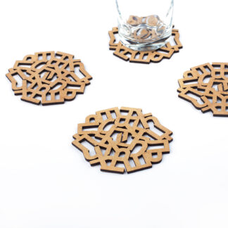 Wooden coasters | Lasercut jewelry | Rename | Made in Belgrade