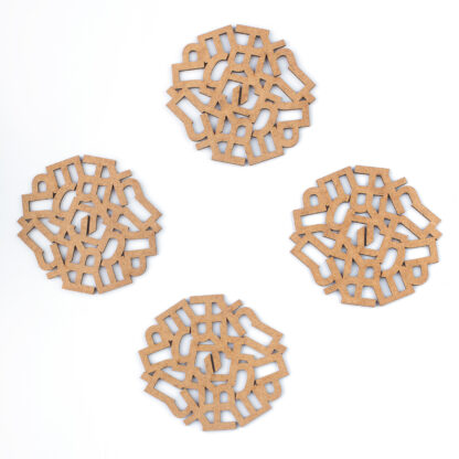Wooden coasters | Lasercut jewelry | Rename | Made in Belgrade